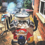 Hot Rod V8 Grill Barbecue_