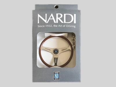 Sleutelhanger van Nardi stuur met glimmende spaak