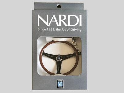 Sleutelhanger van Nardi stuur met zwarte spaak